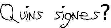 Quins signes uso?